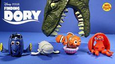 New Finding Dory Disney,Pixar 4 Hatch N Heroes Nemo,Hank,Dory,Bailey  Di...