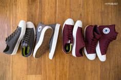"Converse Chuck Taylor All Star II ""Bordeaux"" and ""Thunder"""