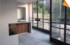 Uitbreiding 2-onder-1-kap Woerden - Kraal architecten BNA - uitbouw, verbouw, jaren dertig, nieuwe keuken, stalen kozijnen