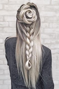 I love her unique hairstyle!