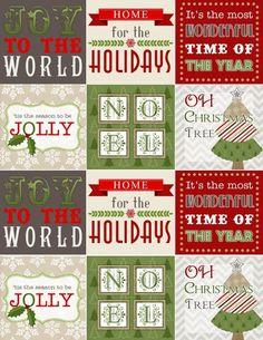 Free Christmas labels ready to print.