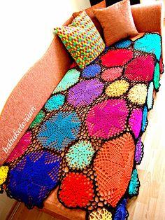 Pinwheel Doily Crochet Blanket