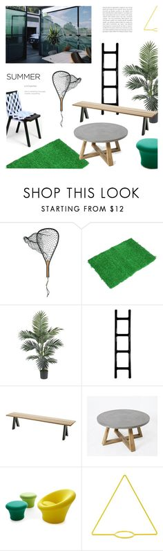 """""""Summer"""" by mirela-k ❤ liked on Polyvore featuring interior, interiors, interior design, home, home decor, interior decorating, Genesee River, Nearly Natural, Zieta Prozessdesign and Skagerak"""
