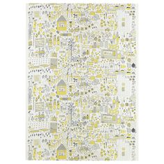 DAGGSKÅL Fabric White/yellow/grey 150 cm - IKEA