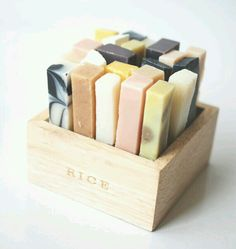 Aromatherapy soaps - I like the idea of cutting homemade soap this small, so I can change my scent regularly.