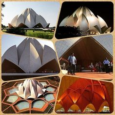 """#LotusTemple #IncredibleIndia The LOTUS TEMPLE built in 1986 in the shape of lotus blossoms is an architectural marvel in New Delhi which has become a prominent attraction in the city. The Lotus Temple has won numerous architectural awards and been featured in hundreds of newspaper and magazine articles. Inspired by the lotus flower the design for the House of Worship in New Delhi is composed of 27 free-standing marble-clad """"petals"""" arranged in clusters of three to form nine sides.The nine…"""