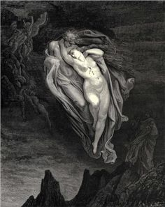 Gustave Dore, from Canto V of Dante's Inferno