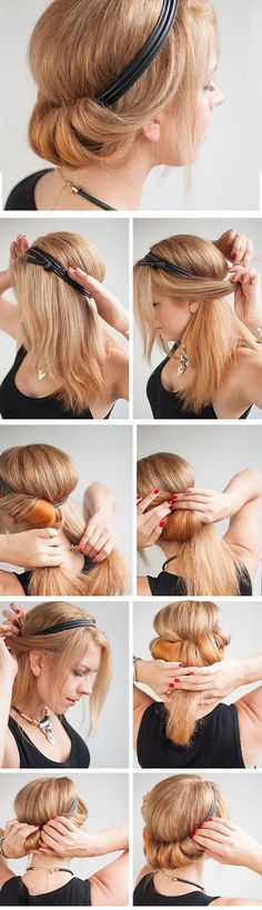 Chic Rolled Updo | Click Pic for 23 Step by Step Hairstyles for Long Hair | DIY Hairstyle Tutorials for Long Hair
