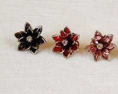 Vintage Style Flower Retro Stud Earring by rosepetalsjewelry, $10.00