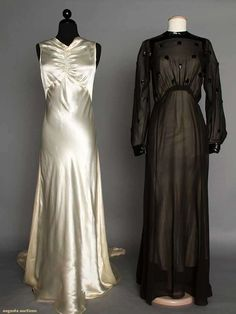 Two Evening Gowns, 1930s, Augusta Auctions, April 9, 2014 - NYC, Lot 223