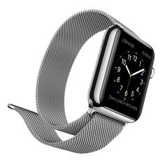 The Apple Watch: Tech Gadget Meets Fine Jewelry. This Apple Watch with a stainless steel case and band has a rugged appeal. Photo courtesy of Apple