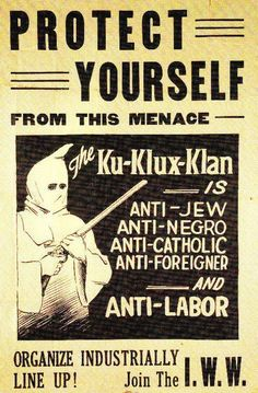 Protect Yourself From The KKK (1910's)