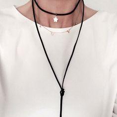Black Suede Choker Choker necklace  www.wishbone.pl