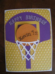 basketball birthday decerations  | Craft e Mama: Birthday Card for a Boy