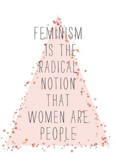 "Just having a little feminism moment. I think it's ridiculous that we were raised to change ourselves by others standards. Like we have to shave, or it's gross and unhygienic, or that if we show cleavage it makes us a ""slut"" and practically ""begs for rape"". It isn't about being greater than men, it's about being treated equally."