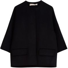 Marni Cashmere Jacket found on Polyvore featuring outerwear, jackets, coats, black, tops, marni jacket, marni and cashmere jacket