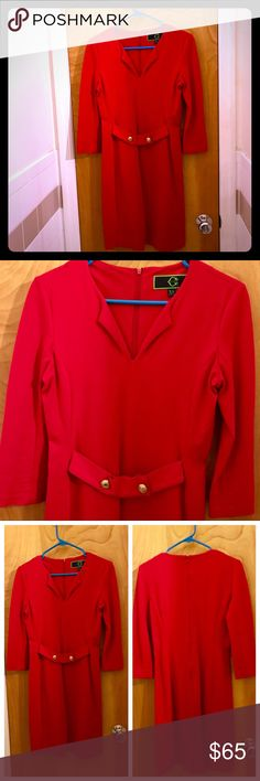 SALE EUC C. Wonder Long Sleeve Red Dress This is a lovely tomato red 3/4 length sleeve dress from C. Wonder. It is form fitting but with comfortable stretchy fabric. Marked an XS, would probably fit a 2 or 4 best. Worn twice and in very good condition. Please note that there is a small mark on the bottom near the hem. It's from a ballpoint pen and based on past experience a dry cleaner should be able to fix it. It's not noticeable unless you're looking for it. This is a perfect dress for…