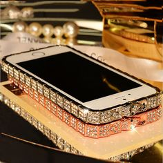 TIKITAKA New style Top quality Luxury Bling Snake Diamond Inlay Metal Rhinestone Bumper fashional phone case for iPhone 5 5s SE