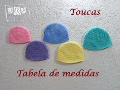 Touca - Tabela de medidas - MRA Artesanatos a6a1fc083a6