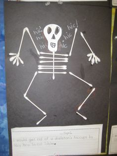 Great Activity For The Art Studio Following The Reading Of Skeleton Hiccups