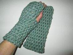 Green Fingerless Gloves Crocheted by SuzannesStitches, Steampunk Fingerless Gloves, Womens Fingerless Gloves, Kids Fingerless Gloves, Gloves by SuzannesStitches on Etsy