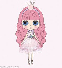 """CWC Exclusive Neo Blythe for Asia and CWC """"Snowflake Sonata"""", via Flickr."""