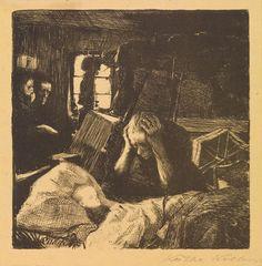 Revolt of the Weavers. Poverty, 1898 //  by Käthe Kollwitz