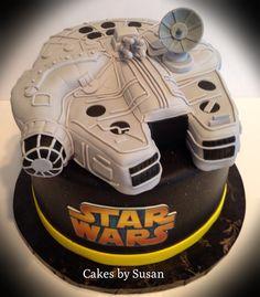 Falcon Star Wars ship grooms cake