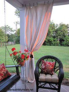 Handmade outdoor curtain panels