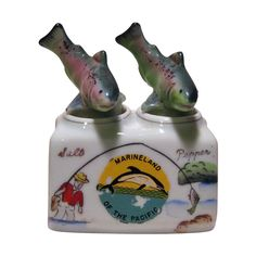 Fish Nodder Salt and Pepper Shakers from antique-ables on Ruby Lane