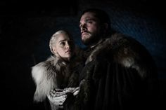 """All the Photos From Game of Thrones Season 8 : Daenerys Targaryen and Jon Snow in Game of Thrones Season Episode """"A Knight of the Seven Kingdoms"""" Jaime Lannister, Cersei Lannister, Daenerys Targaryen, Arya Stark, Eddard Stark, Jon Snow And Daenerys, Dany And Jon, Kit Harington, Game Of Thrones Photos"""