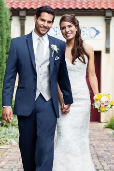 Helping Colorado bridal parties find their perfect wedding attire with quality selection, superior service, and over 25 years of experience. Includes wedding gowns, bridesmaid dresses, and tuxedo rentals. Blue Tuxedo Wedding, Wedding Groom, Wedding Gowns, Wedding Tuxedos, Blue Wedding Suits, Mens Wedding Tux, Casual Wedding Attire, Groom Attire, Groom And Groomsmen