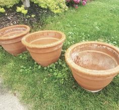 Lovely big earthenware pots in store. Open today! #collingwood #ceramics #pots #gardening #summer