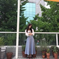 Ulzzang Fashion, Korean Fashion, Pretty Baby, Pretty Girls, Long Skirt Fashion, Ulzzang Korean Girl, Baby Faces, Attractive People, Girl Poses