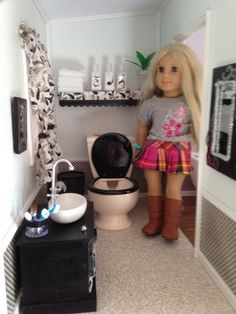 American Girl Doll House Bathroom With Claw Foot Tub