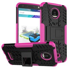 Anti-Knock Dual Layer Kickstand Phone Case For Motorola Moto Z Cover Silicon&Plastic Armor Shockproof 2in1 Back Protector Case