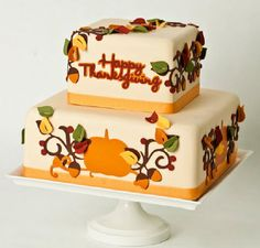 Cricut® Happy Thanksgiving Cake by Sue Helfrich