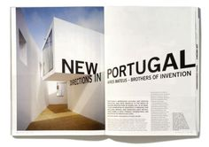 Typeverything.com 'New directions in Portugal' Double page spread.