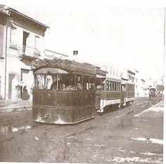 Tranvia Valencia al Grao c. 1890 , foto Bernardo Villaba, fondo Archivo Diaz Prosper