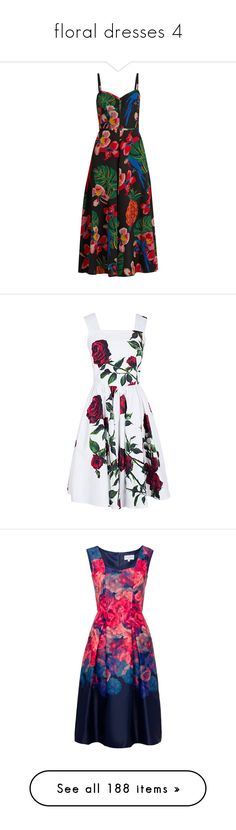 """floral dresses 4"" by aphroditiesdream ❤ liked on Polyvore featuring dresses, vestidos, gown, black multi, sweetheart neckline dress, pineapple dress, sweetheart neck dress, fit and flare print dress, mixed print dress and sammydress"