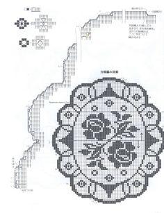 Home Decor Crochet Patterns Part 124 - Beautiful Crochet Patterns and Knitting Patterns Crochet Blocks, Crochet Chart, Filet Crochet, Crochet Motif, Diy Crochet, Crochet Puff Flower, Crochet Dollies, Crochet Flower Patterns, Crochet Flowers