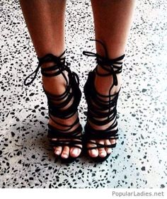 black-strappy-suede-heels