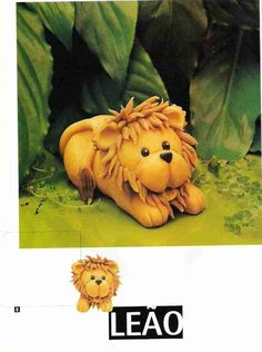 Cake Decorating Tutorials (How To's) Tortas Paso a Paso Polymer Clay Animals, Polymer Clay Charms, Polymer Clay Creations, Polymer Clay Art, Fondant Figures Tutorial, Cake Topper Tutorial, Fondant Toppers, Lion Cakes, Safari Cakes