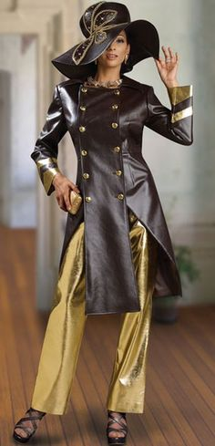 Donna Vinci Couture 5409 Womens Brown Church Suit