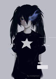 Black Rock Shooter Black Rock Shooter by CrowDystopia - Joker Cosplay, Anime Cosplay, Black Rock Shooter, Blue Flames, Best Black, Blues Rock, Hatsune Miku, Blue Bird, Anime Art