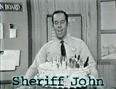 And here's Sheriff John too. His show was always on at lunchtime and showed Crusader Rabbit.