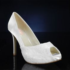 The satin can be colored royal blue!! :D PINK FANCY WHITE, IVORY Wedding and Bridesmaids Shoes WHITE,IVORY Bridal Shoes