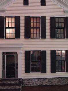Dustin White, Historic Dollhouses - 1850s Greek Revival, exterior detail