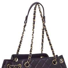 Chanel Purple Quilted Lambskin Large Drawstring Bag - modaselle Purple Quilts, Designer Handbags, Chanel, Louis Vuitton, Shoulder Bag, Luxury, Couture Bags, Designer Purses, Louis Vuitton Wallet
