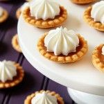 Mini Pumpkin Pies-these bite-size goodies are perfect to serve when guests are as stuffed as the bird. | My Baking Addiction